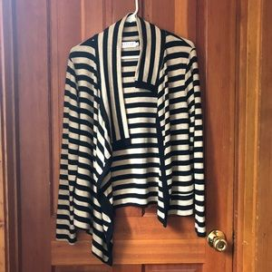Asymmetrical Striped Cardigan